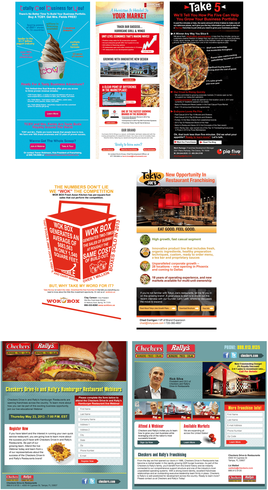 franchise email campaigns